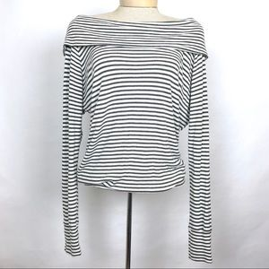 Bordeaux Stripped Top Size M